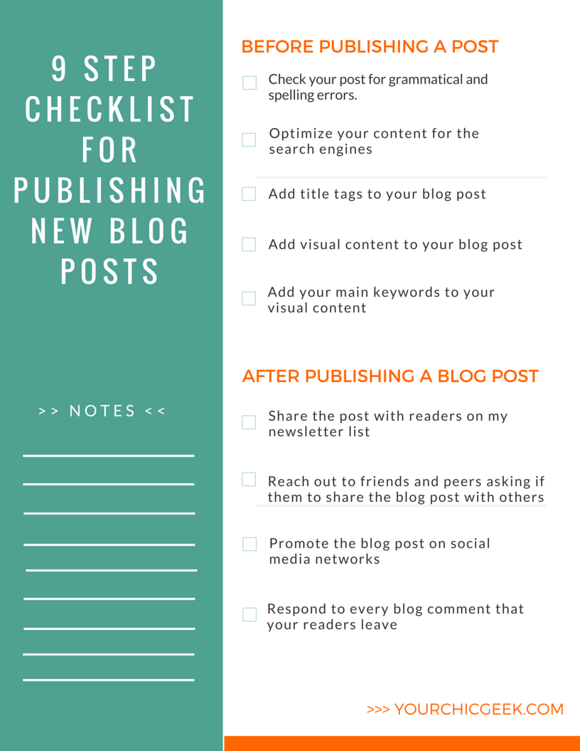 9 Things to Do Before and After Publishing a Blog Post (2019
