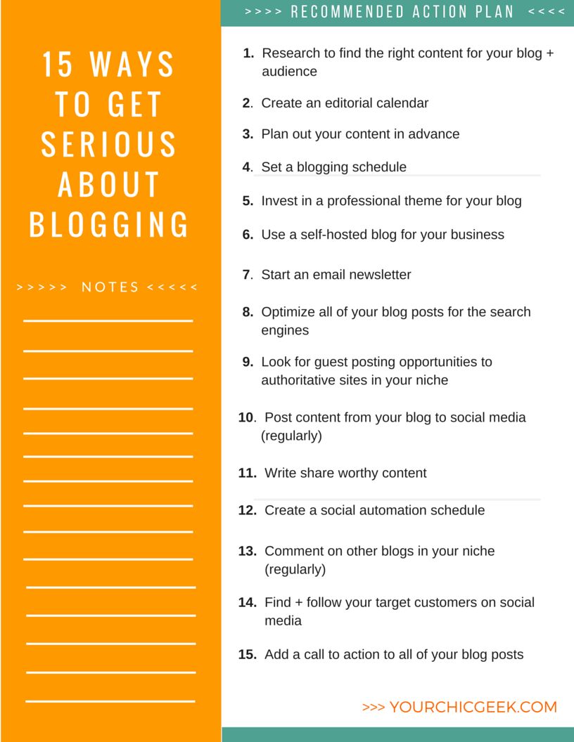 Blogging for Business Recommened Action Plan