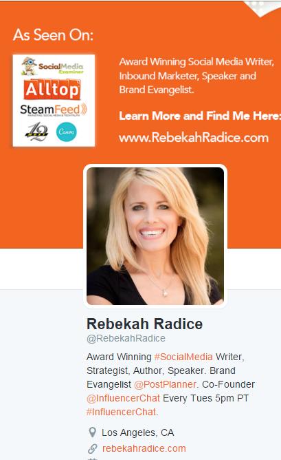 Rebekah Radice Twitter Profile