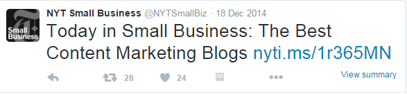 SmallBiz Content Marketing Blogs
