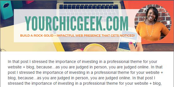 YourChicGeek Newsletter