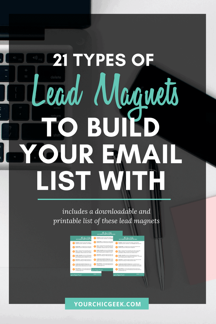Lead Magnets to Build an email list with