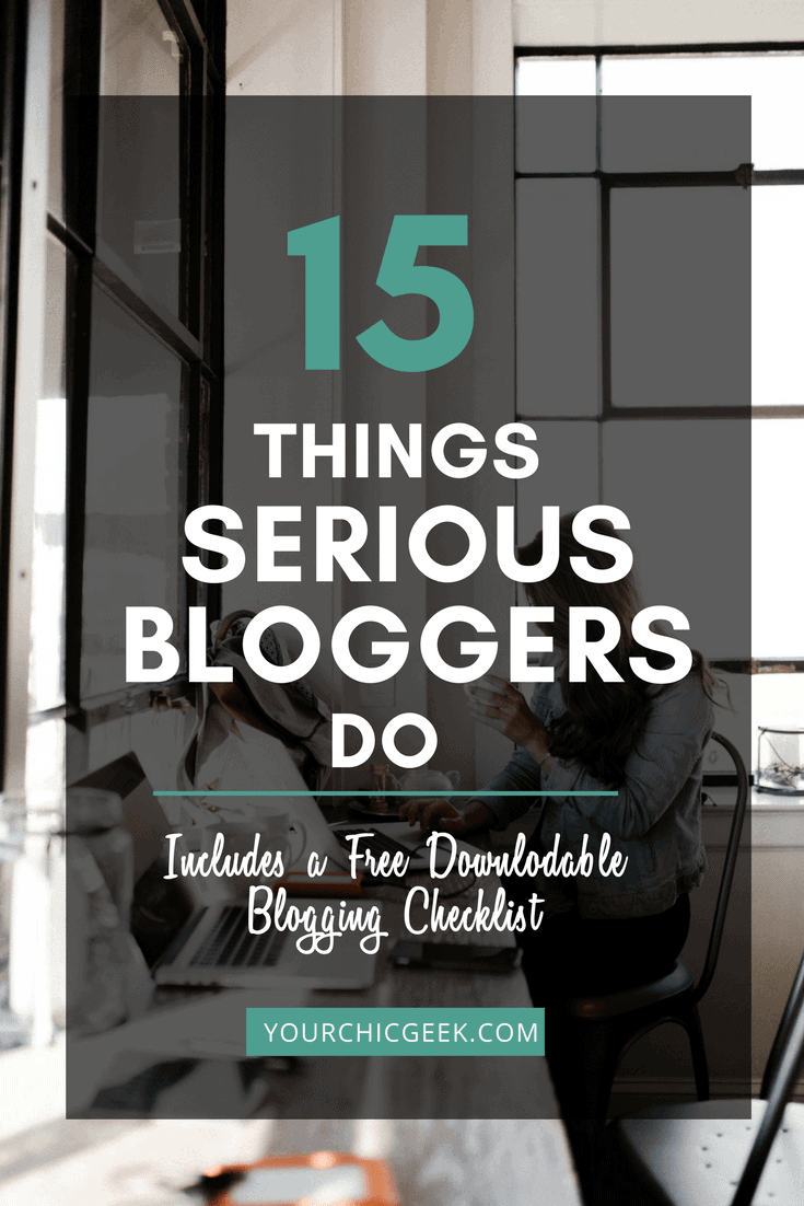 Ways to Get Serious About Blogging