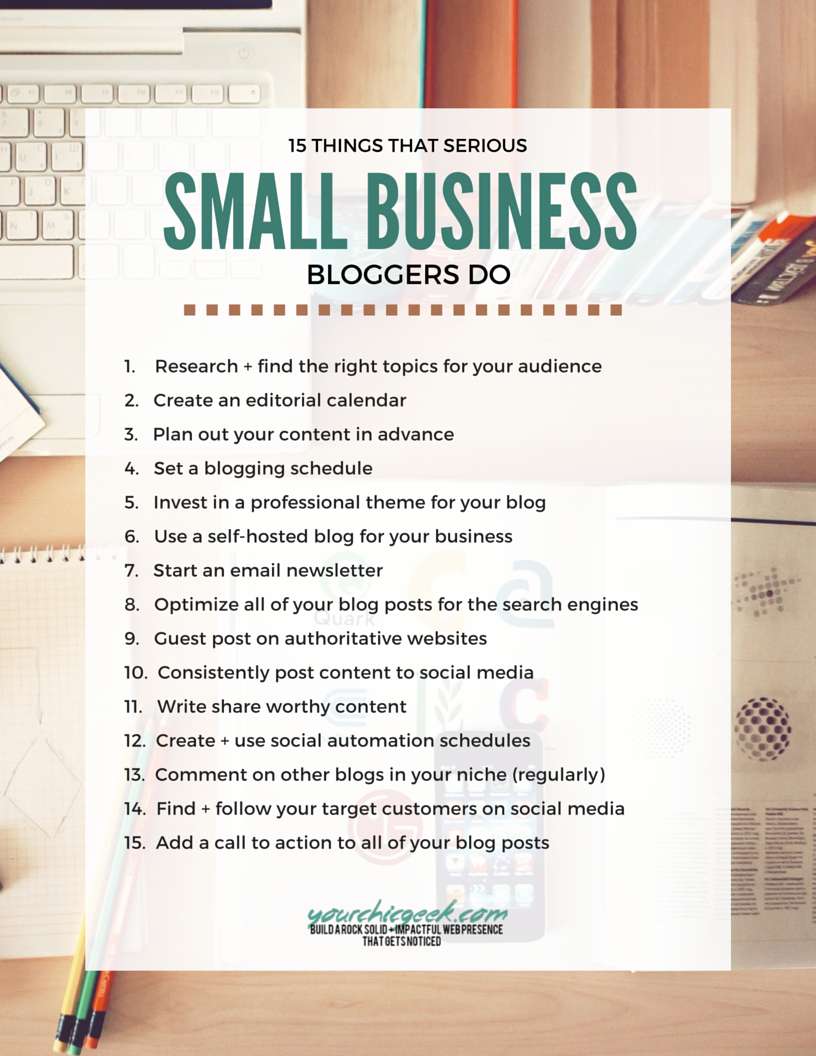 Blogging for Business Checklist