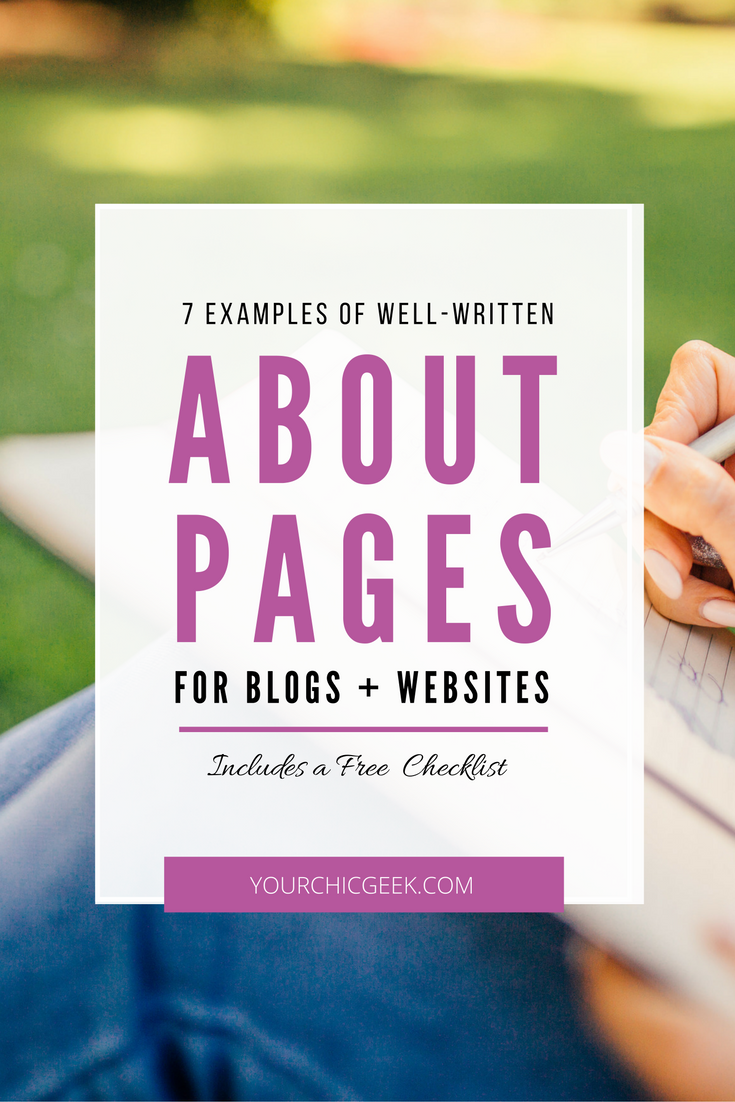 7 Examples of Well Written About Pages for Blogs and Websites