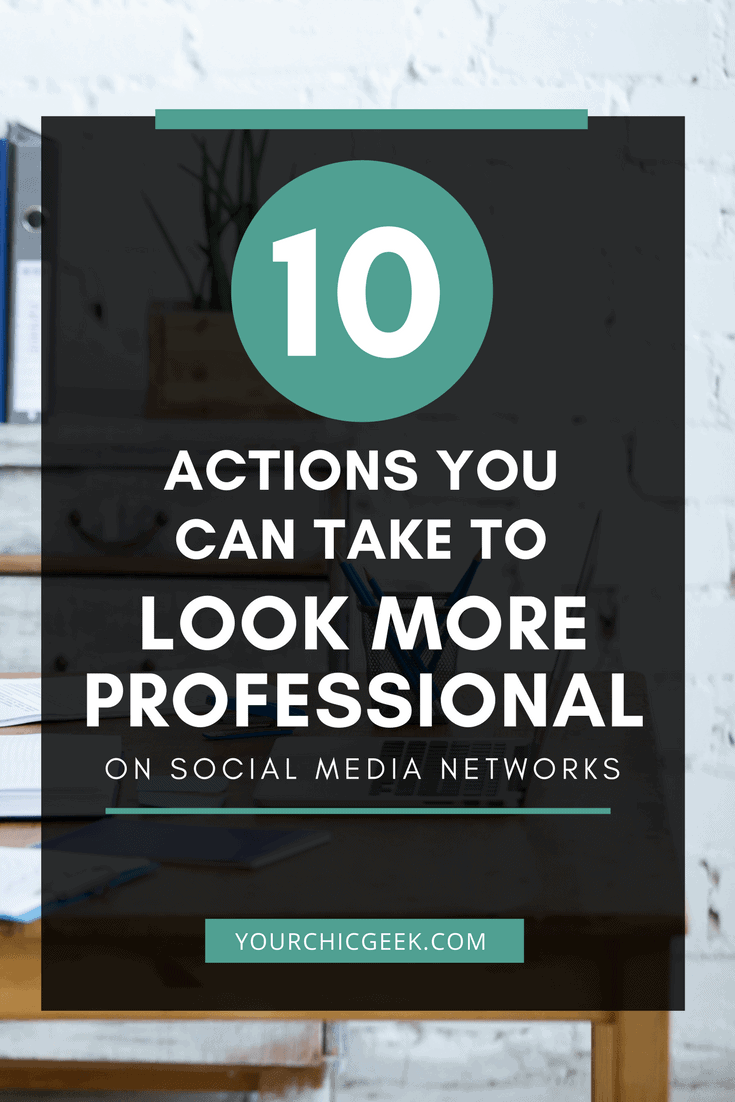 Look More Professional on Social Media Networks