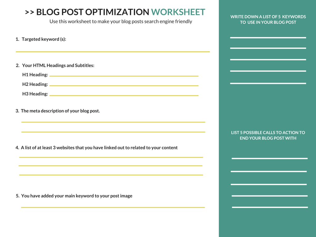 worksheet Keyword Worksheet blogger seo the rookies guide to optimizing a blog post for free worksheet