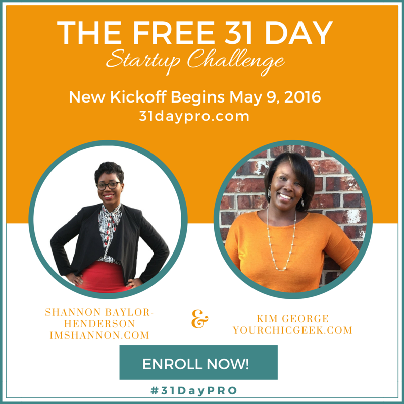 31 Day Startup Challenge with Kim and Shannon