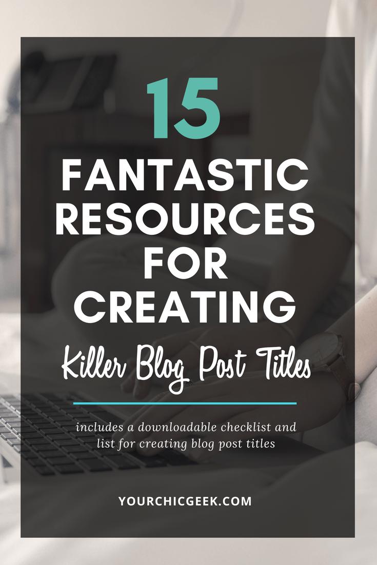 Creating Killer Blog Post Titles
