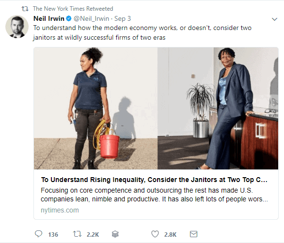 NYT Tweet with a Lot of Engagement