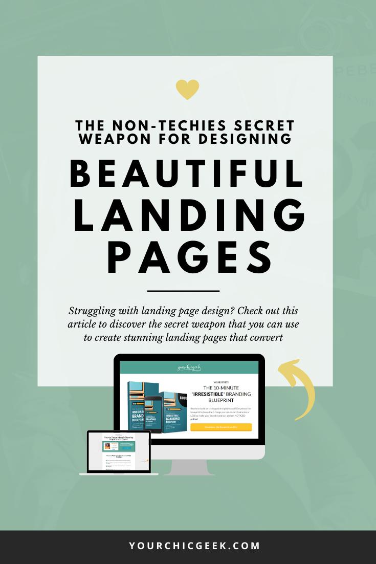 Designing beautiful landing pages