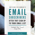 How to Send a Free Download to New Email Subscribers
