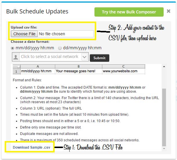 Hootsuite Bulk File Upload