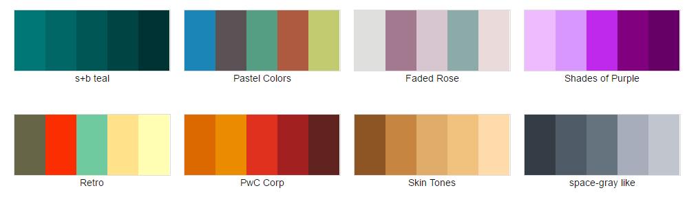 Color-hex.com Color Palettes