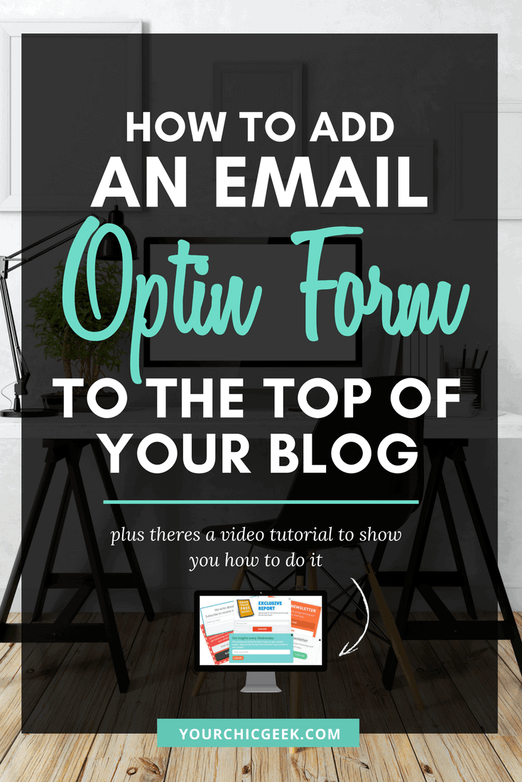 Email Opt In Form to Blog