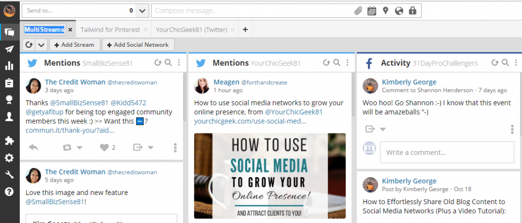 My Hootsuite Dashboard
