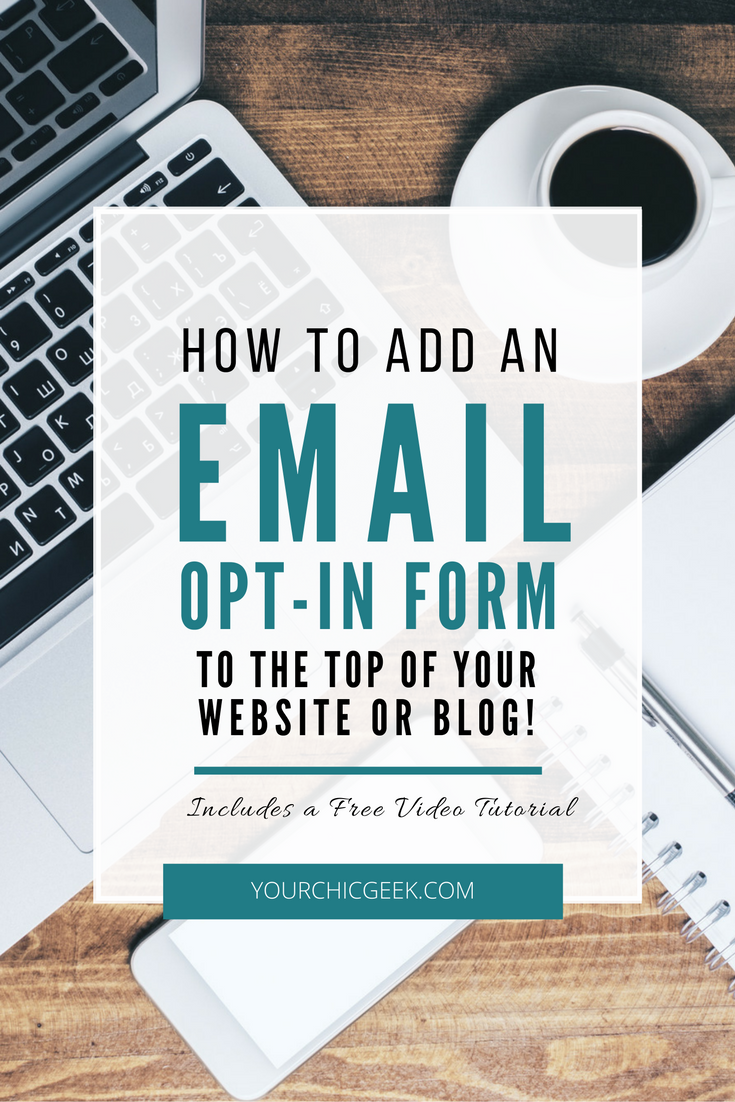 How to add an email opt in form to the top of your site