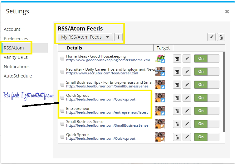 Add Your RSS Feeds Here from Other Websites