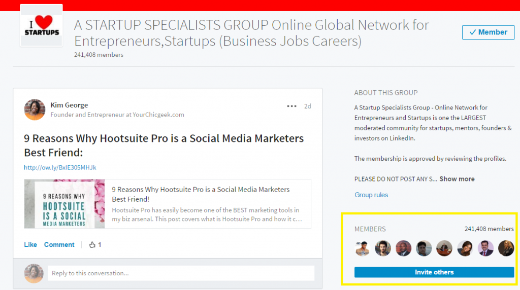 Startup Group on LinkedIn