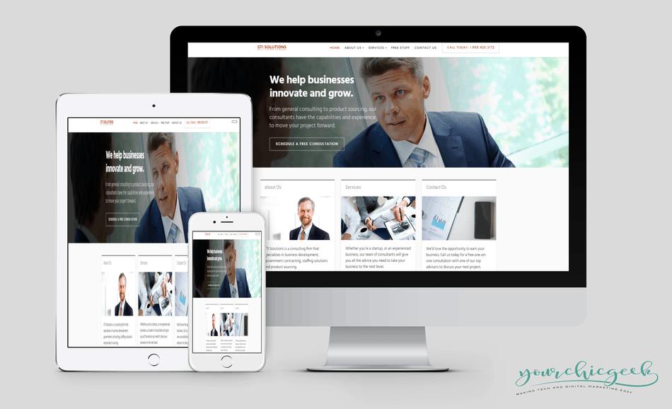 STI Solutions Web Design Project