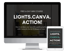 Course Mockup Example in Canva For Work