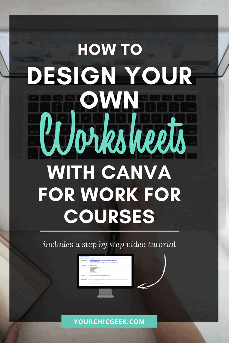 How to Design Worksheets with Canva for Work