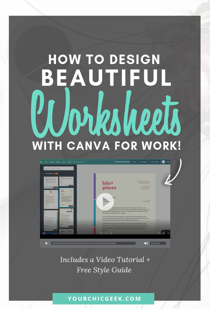 How to Make Worksheets with Canva for Work (Video Tutorial)