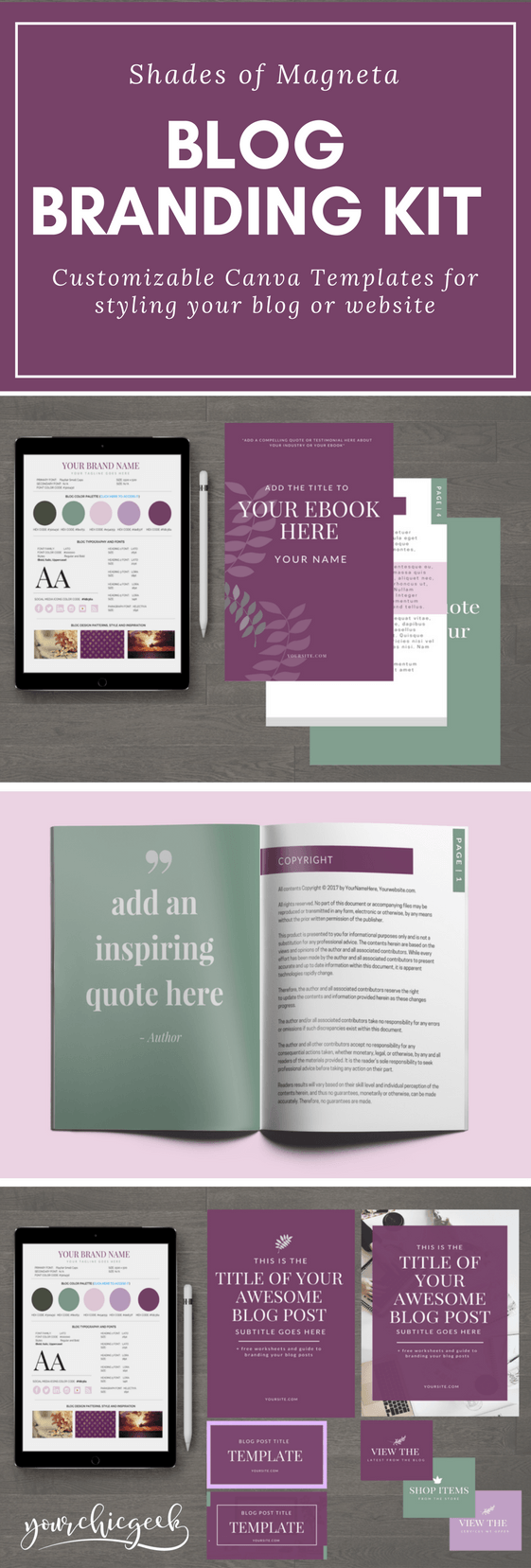 Shades of Magenta Blog Branding Kit