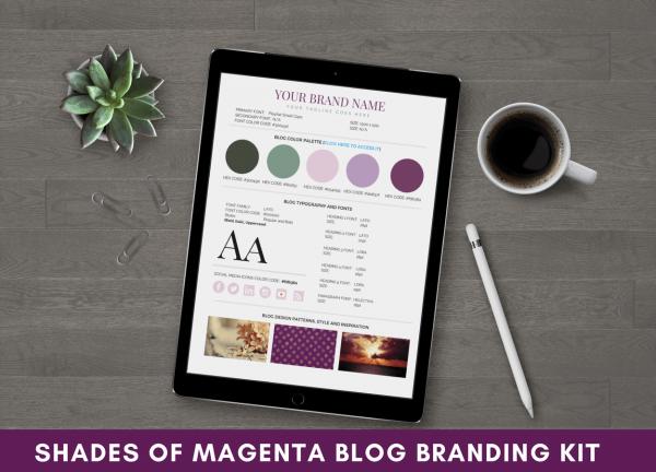 Blog Branding Kit Shades of Magenta