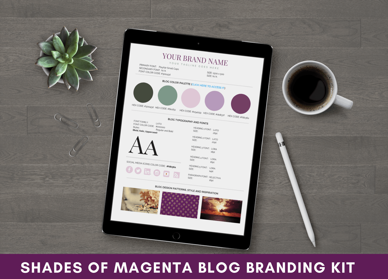 Blog Branding Kit Shades of Magenta