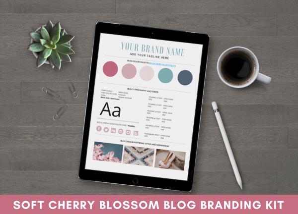 Blog Branding Kit - Soft Cherry Blossom