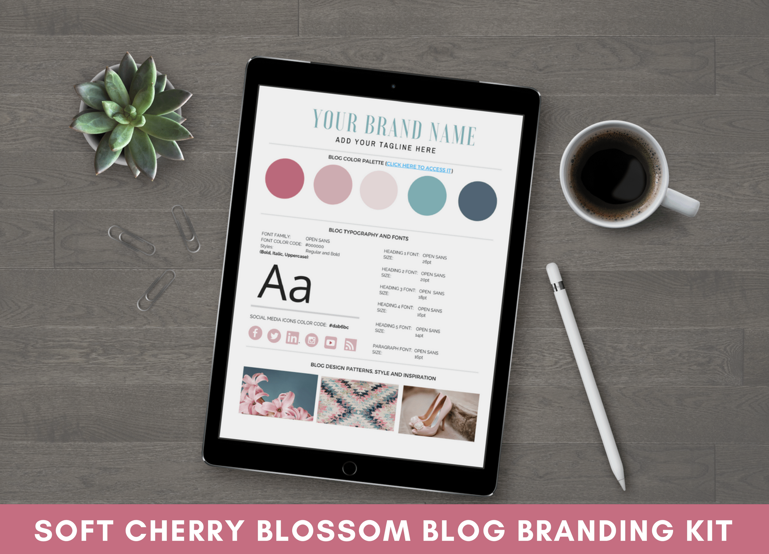 Blog Branding Kit - Soft Cherry Blossom
