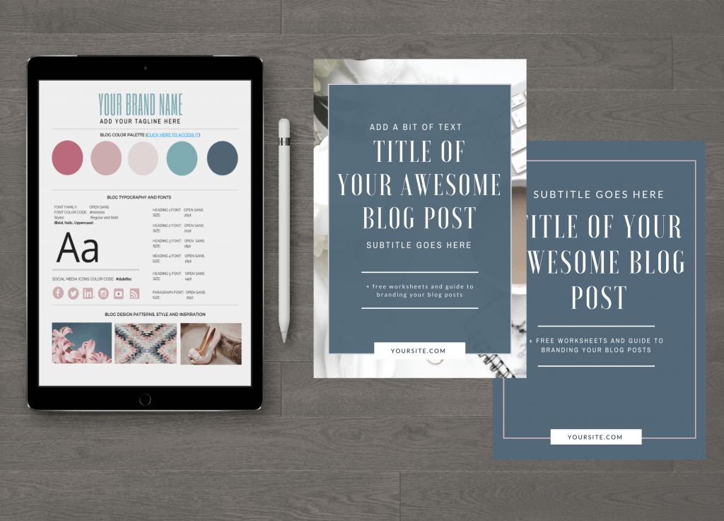 Branded Blog Post Image Templates