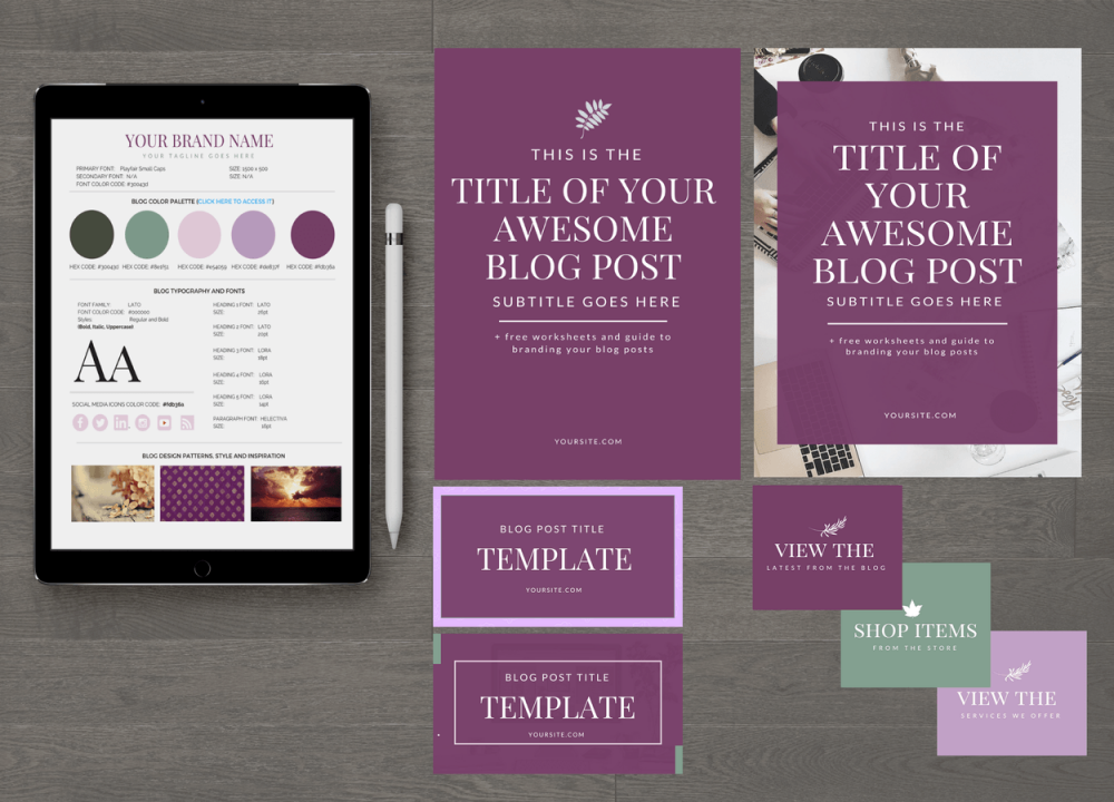 Shades of Magenta Blog Design Essentials