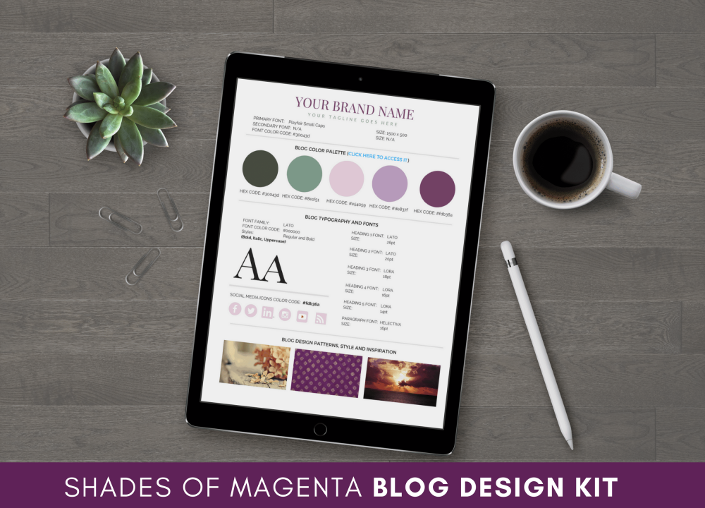 Shades of Magenta Blog Design Kit