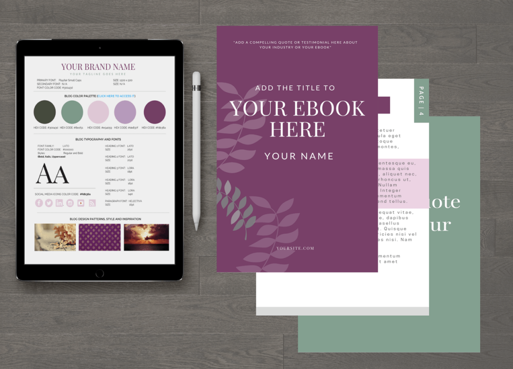 Shades of Magenta Customizable eBook Template