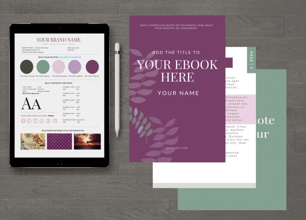 Shades of Magenta Customizable eBook Template