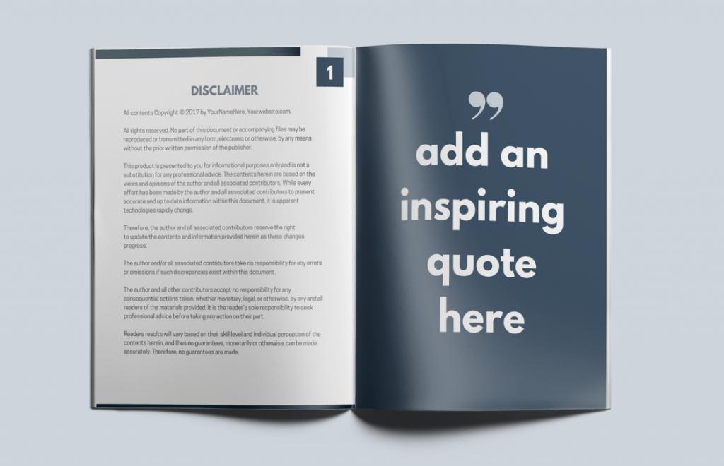 Smokey Blog Design Kit Customizable Workbook Template