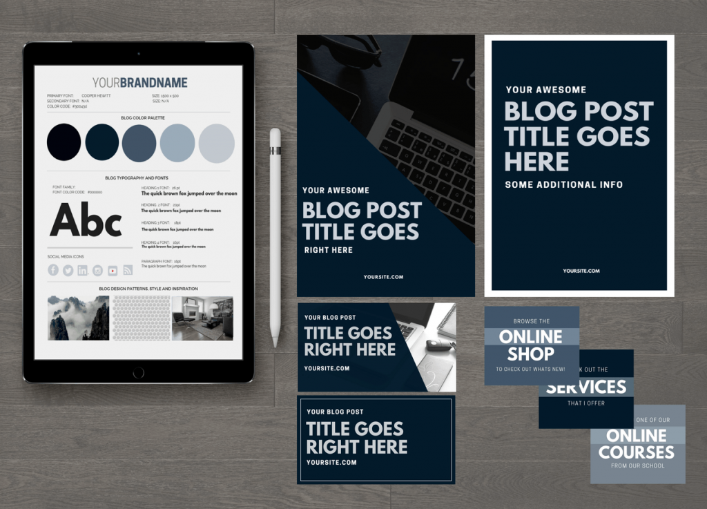 Smokey Blog Design Kit Essentials