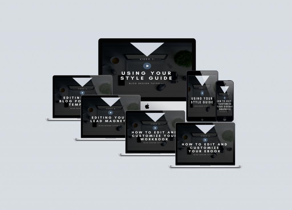 Smokey Blue Blog Design Kit Video Tutorials