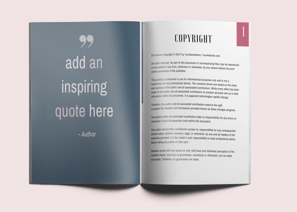 Soft Cherry Blossom Customizable Workbook Template