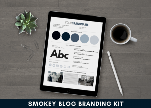 Smokey Blue Blog Branding Kit