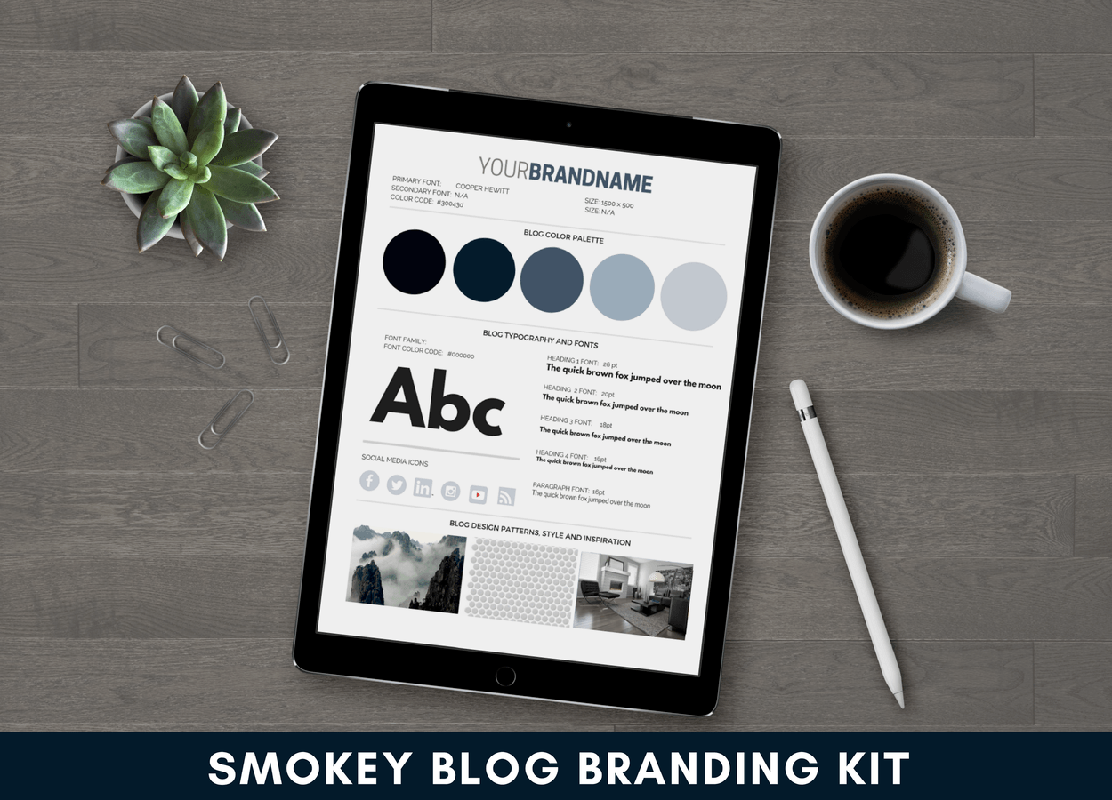 Smokey Blue Blog Branding Kit