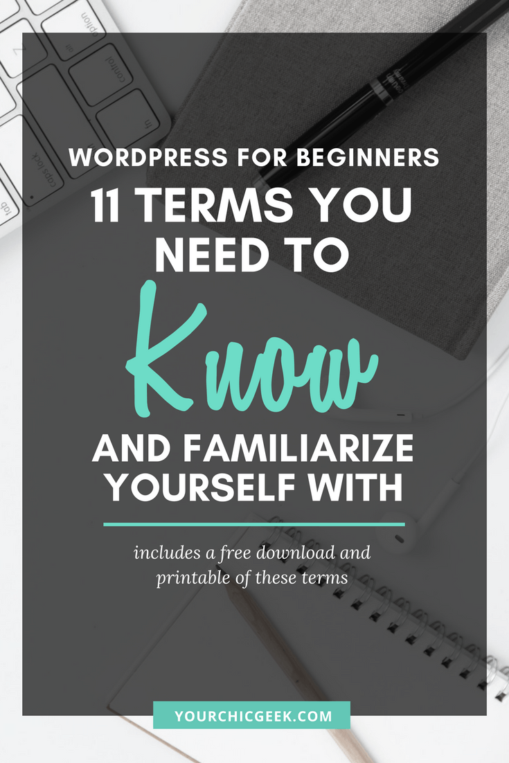 Wordpress for Beginners Glossary and Tips You Should Know