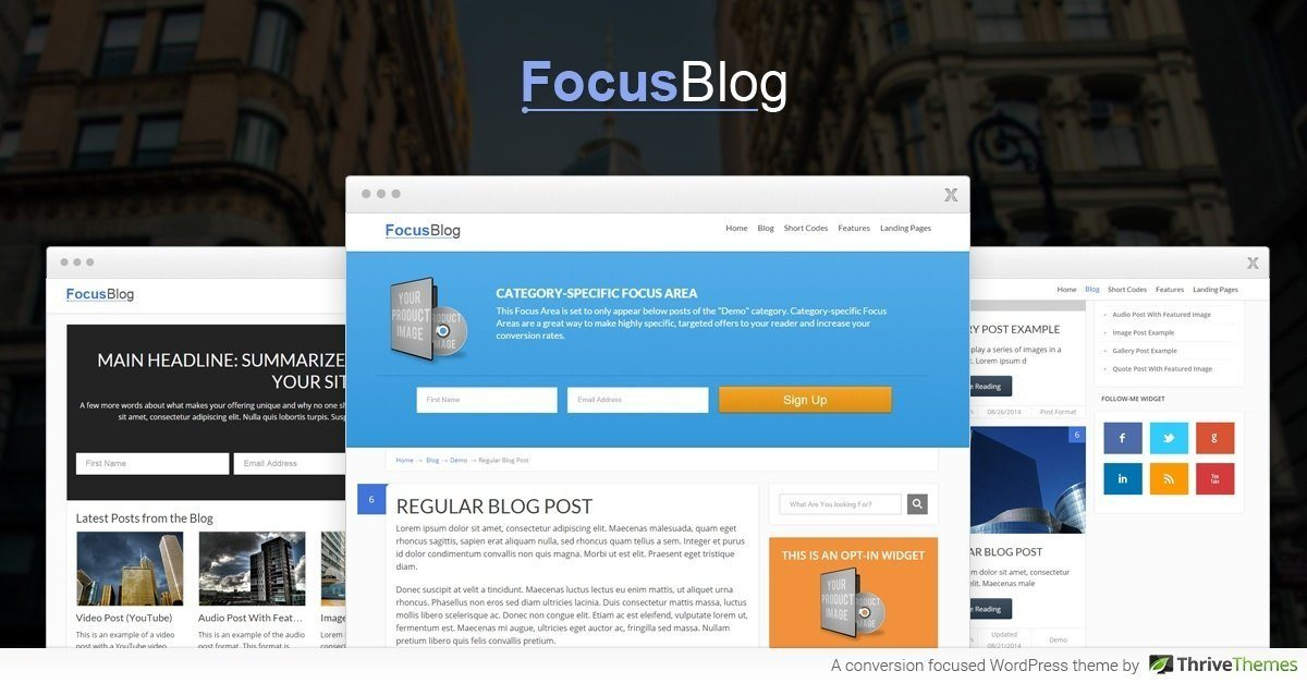 Thrive Themes FocusBlog