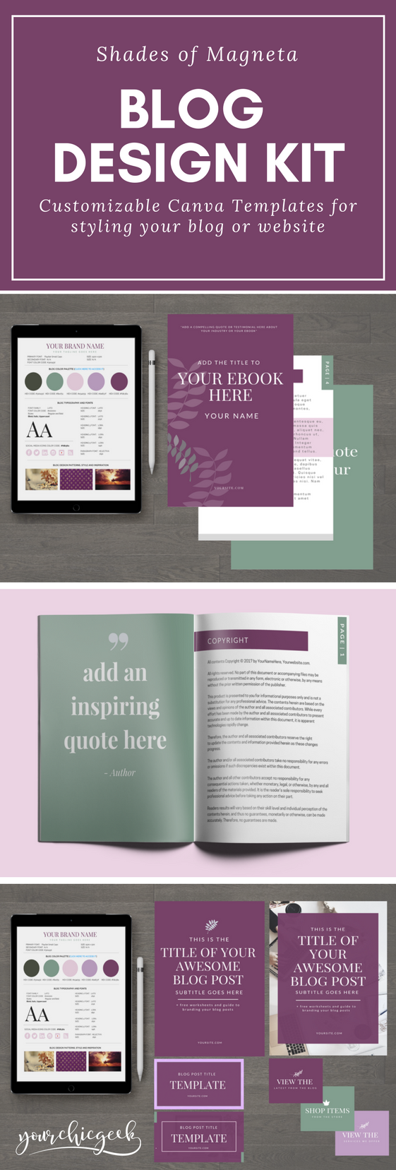 Shades of Magenta Blog and Website Design Kit