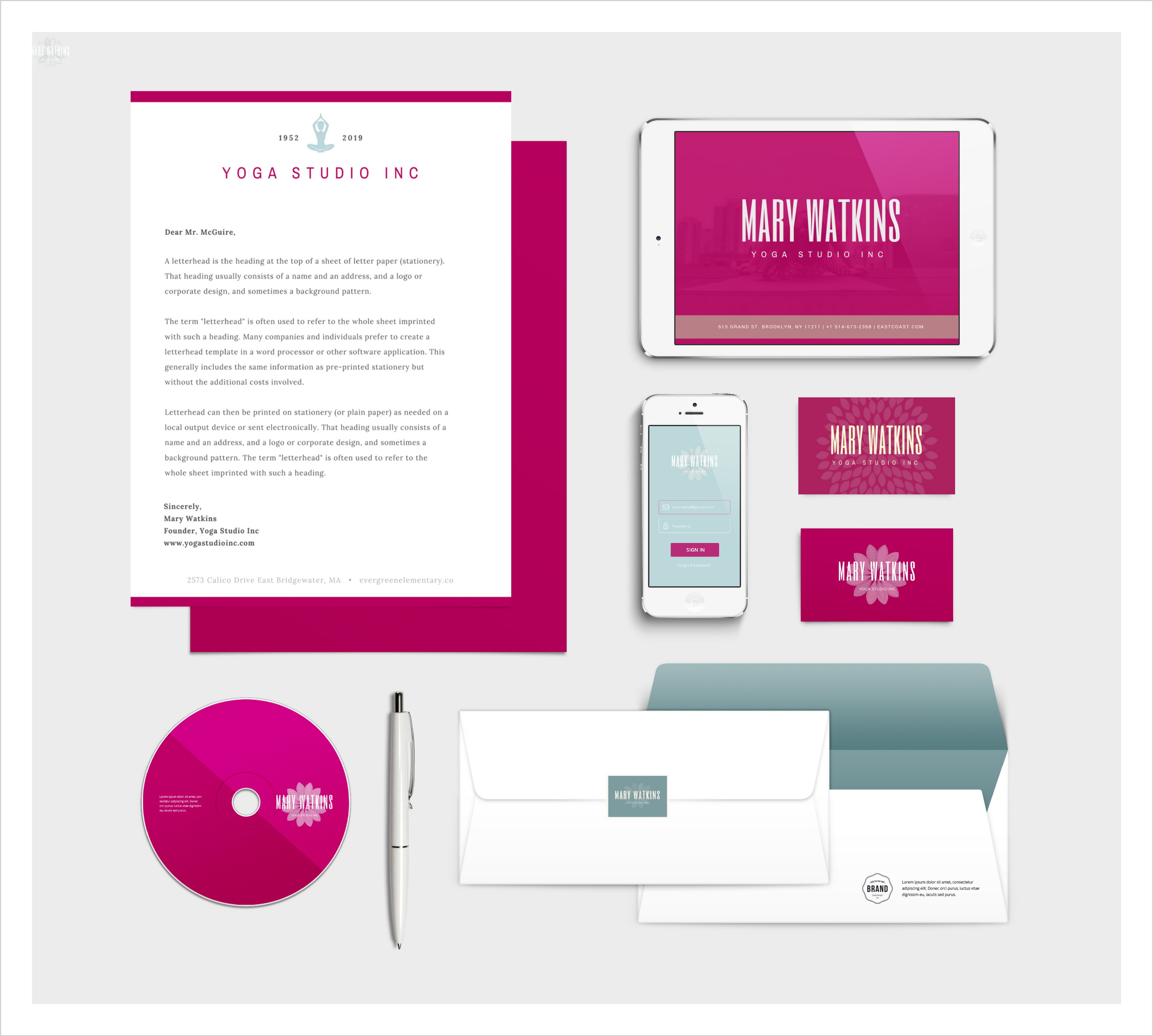 The solopreneurs diy guide to beautiful brand identity design brand identity example with canva for work malvernweather Images