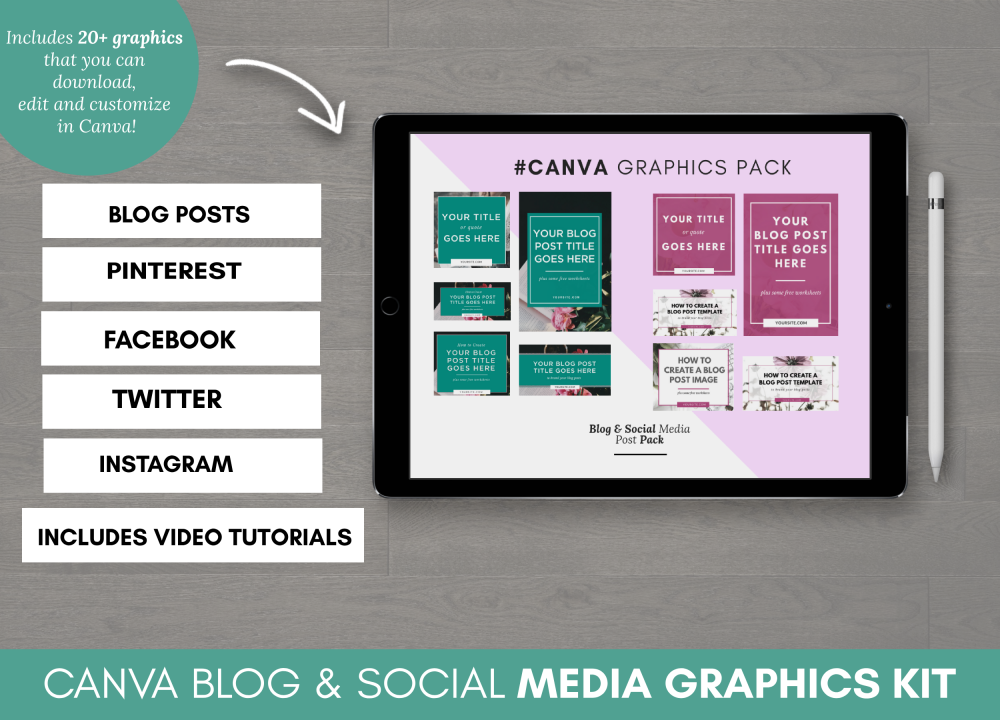 Canva Graphics for Social Media and Blog Posts