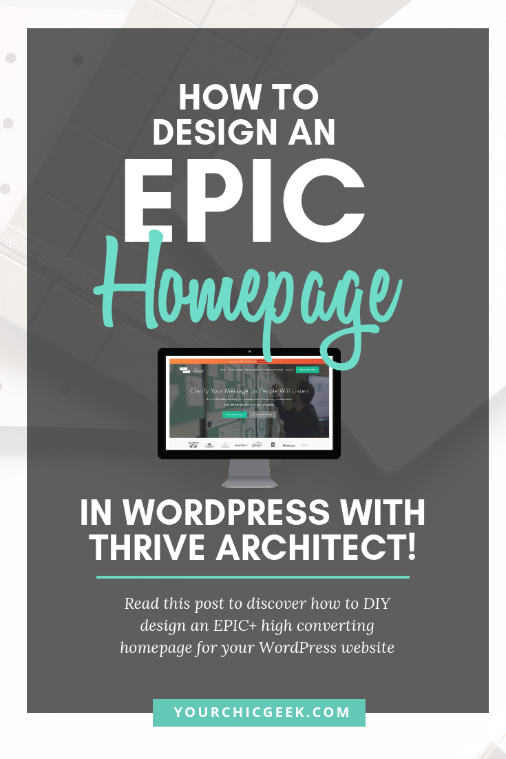 WordPress Homepage Design with WordPress