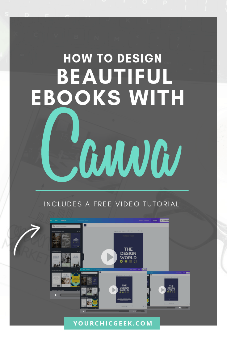 How to Design Beautiful eBooks with Canva video Tutorial